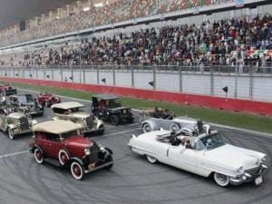 Vintage car race at the Buddha International Circuit in Greater Noida