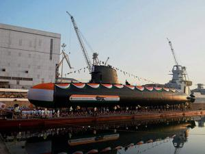 Scorpene class submarine 'Khanderi' launched at Mazagon Dock Shipbuilders Limited (MDL)
