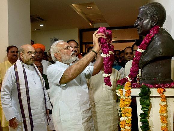 Deendayal Upadhyay, BJP, Narendra Modi, Amit Shah, Venkaiah Naidu