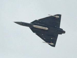 The Naval version of LCA, Tejas, takes a flight on the opening day of the 9th edition of Defexpo-16 in Goa