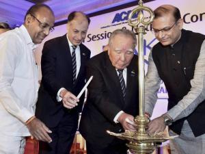 Anant Geete, Jayant Sinha, Suzuki Motor Corporation Chairman & CEO Osamu Suzuki