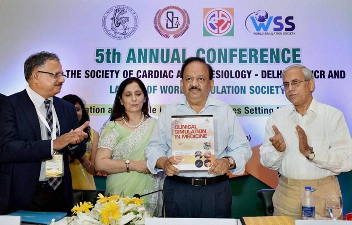 Union Health Minister, Harsh Vardhan, launch, World Simulation, Society,  inauguration, 5th, Annual, Conference,  Society, Cardiac, Anesthesiology, New Delhi