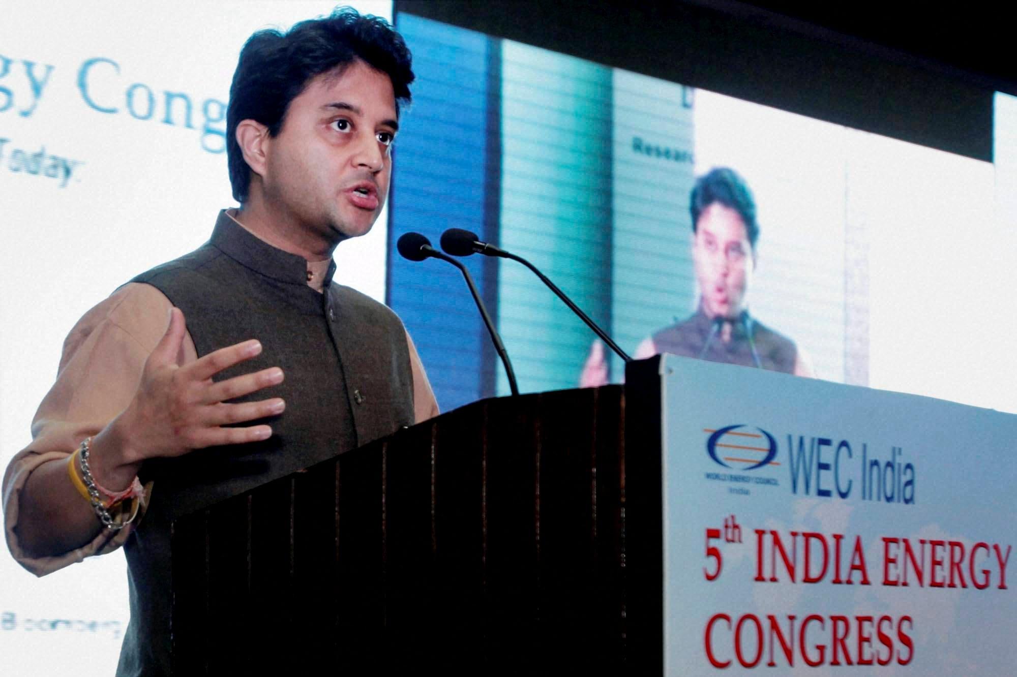 India Energy Congress, Jyotiraditya Scindia
