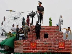 A tableau on display at the Army Day parade