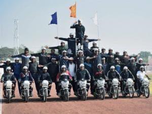 Rajasthan police daredevils perform