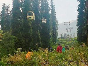 The site of accident where a cable-car snapped after a tree fell on it