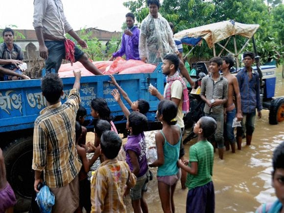 Heavy rains, Heavy rainfall, Flood, West Bengal, Ganga, India