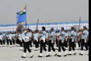 Air Force personnel during the 82nd Air Force Day function at Air Force Station Hindon