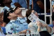 Sachin Tendulkar, cricket legend and honorary Group Captain in IAF and his wife Anjali