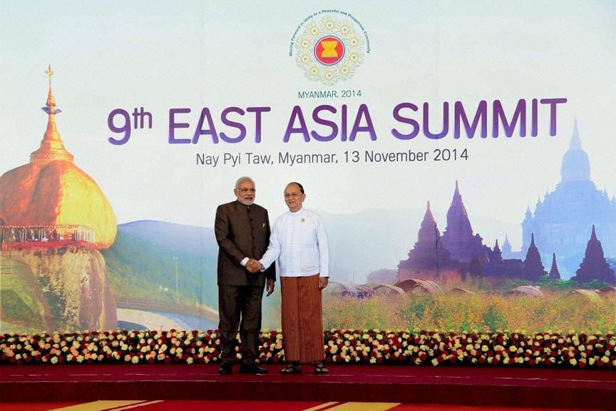 Prime Minister Narendra Modi, Myanmar's President Thein Sein, 9th East Asia Summit, Nay Pyi Taw, Myanmar