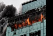 A major fire at Lotus Business Park Building at Andheri in Mumbai