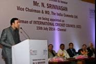 Former Indian cricketer VVS Laxman speaks at a Felicitation Function in chennai