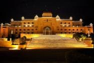 Illuminated Rajasthan Assembly on the eve of the Independence Day