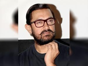 Aamir Khan during the song launch of his upcoming film 'Dangal'