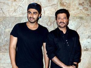 Anil Kapoor and Arjun Kapoor  at the special screening of film Dangal