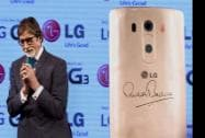 Bollywood actor Amitabh Bachchan during the launch of LG G3 Smartphone in Mumbai