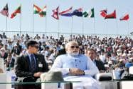 Prime Minister Narendra Modi during the inauguration of the Aero India 2015