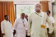 RSS Chief Mohan Bhagwat and other leaders at the inaugural session of Akhil Bharatiya Pratinidhi Sabha