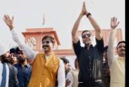 Bollywood actors Akshay Kumar and Vivek Oberoi