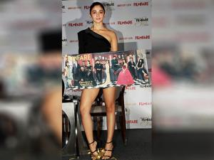 Alia Bhatt during the launch of Filmfare Cover