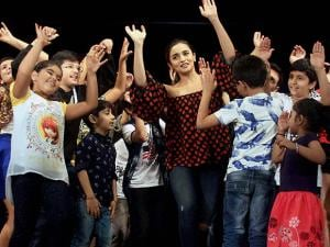 Bollywood actor Alia Bhatt visits a dance academy in Mumbai