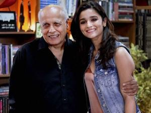 Mahesh Bhatt with Alia Bhatt at the shoot of Vogue BFFs on Colors Infinity