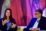 Bill Gates and Melinda Gates in conversation with author Chetan Bhagat