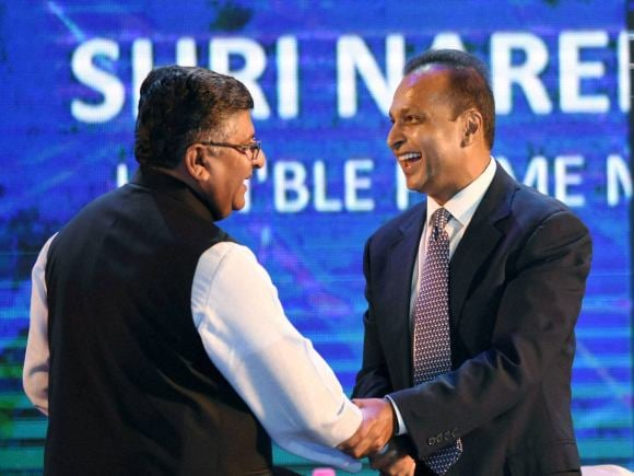 Telecom Minister of India, Ravishankar Prasad, Ambani, Mukesh Ambani, Anil Ambani, Narendra Modi, Digital India, Reliance, Wipro, Birla, Vedanta Group, Arun Jaitley