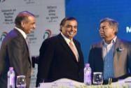 RIL chairman Mukesh Ambani, Bharti Enterprises chairman Sunil Mittal and Hero MotoCorp Chairman Pawan Munjal