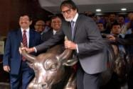 Amitabh Bachchan at BSE