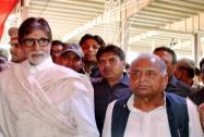 Amitabh Bachchan at the 'Tilak'ceremony of Tej Pratap Singh Yadav, grand-nephew of SP supremo Mulayam Singh Yadav