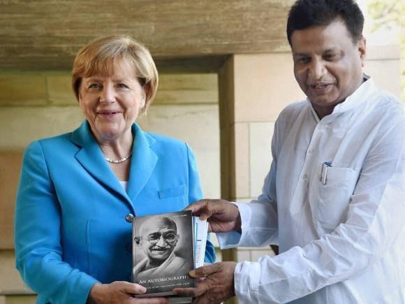 Angela Merkel, Mahatma Gandhi, Prime Minister of India, Narendra Modi, Angela Merkel in New Delhi, Merkel in India, Merkel Modi meet, Angela Merkel India Visit, PM Modi, India Germany
