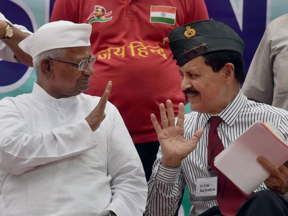 Anna Hazare, One Rank One Pension, OROP, OROP Scheme, Ex-servicmen, Hunger Strike, Jantar Mantar, New Delhi