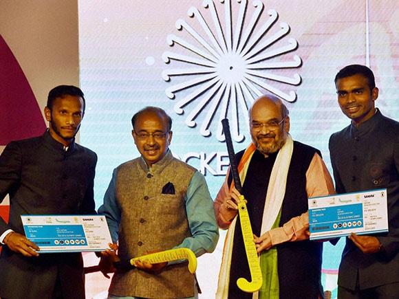 PR Sreejesh, Amit Shah, Rio Olympics, India hockey, indian hockey team, Amit shah, Vijay Goel, Sports Minister, indian hockey