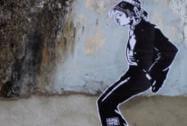 Anonymous graffiti artist's work in Kochi