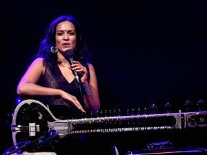 Sitar player and composer Anoushka Shankar performs