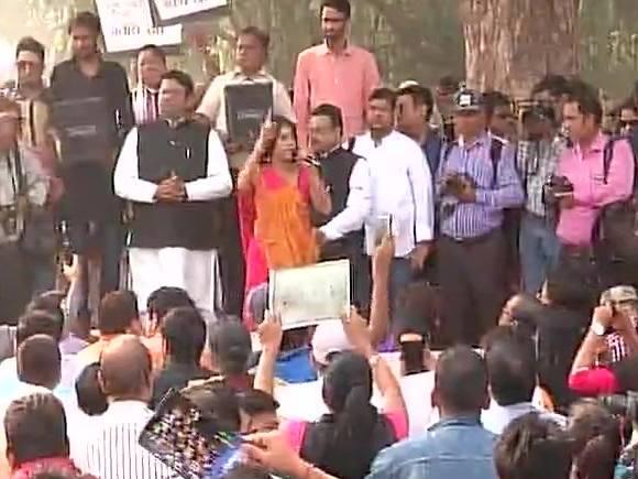 Anupam Kher, March for India, Tolerance, Rashtrapati Bhavan