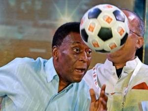 Football Legend Pele in Kolkata