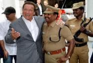 Hollywood star Arnold Schwarzenegger for Audio launch of the Tamil movie