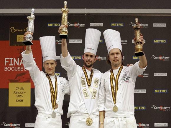 "Orjan Johannessen, ""Bocuse d'trophy, Golden Bocuse trophy,Philip Tessier,Tommy Myllymaki"