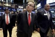 Arun Jaitley rings closing bell at New York Stock Exchange