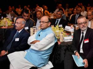 Finance Minister Arun Jaitley during the  'India Summit 2015