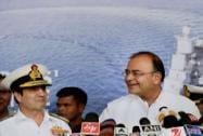 Arun Jaitley with Navy chief Admiral