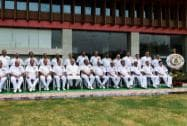 Defence Minister with naval commanders