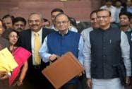 Finance Minister Arun Jaitley with MoS Jayan Sinha