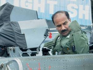 Chief of Air Staff Air Chief Marshal Arup Raha in the cockpit of Light Combat Aircraft (Tejas) after a sortie at HAL Bengaluru