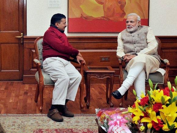 Arvind Kejriwal, Prime Minister of India, Narendra Modi, Delhi CM-designate Arvind Kejriwal