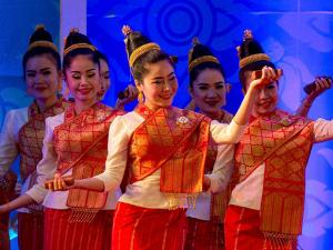 Traditional dancers perform during the opening ceremony of the 28th and 29th ASEAN summits