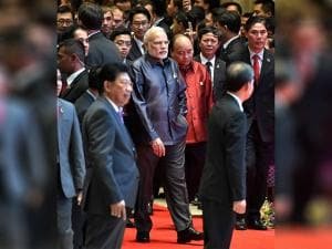 Narendra Modi arrives for the Gala Dinner at 28th and 29th ASEAN Summit