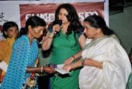 Poonam Dhillon and Asha Bhosle